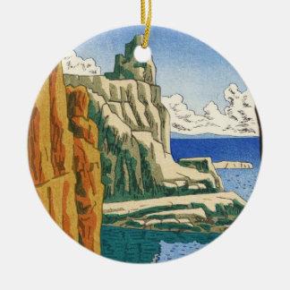Asano Takeji Tojinboの日本のwaterscapeの海岸 セラミックオーナメント