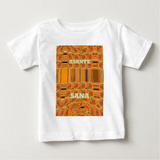 Asanteサナケニヤの伝統的な種族Hakuna Matata ベビーTシャツ