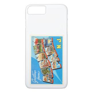 Asbury公園のニュージャージーNJのヴィンテージ旅行郵便はがき iPhone 8 Plus/7 Plusケース