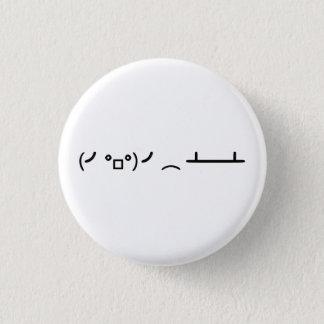 Asciiの顔文字を弾くテーブルフリップ 3.2cm 丸型バッジ
