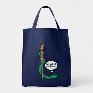 Asclepiusのおもしろいなスタッフ トートバッグ