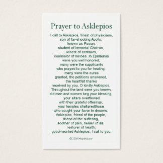 Asclepiusの祈りの言葉カード 名刺