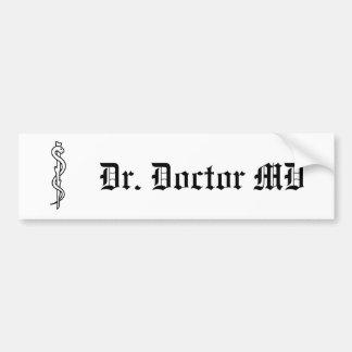Asclepius [医学の記号]の棒 バンパーステッカー