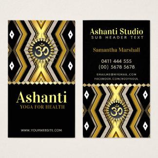 Ashantiのヨガのスタイリッシュで黒い金ゴールドの名刺 名刺