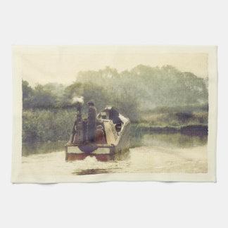 Ashby運河の働きボート キッチンタオル