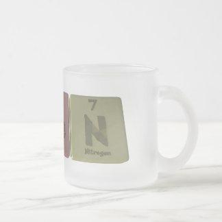 Ashenように彼Nヒ素ヘリウム窒素 フロストグラスマグカップ