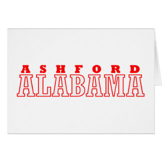 Ashfordのアラバマ都市デザイン カード