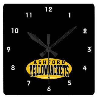Ashfordの高等学校; Yellowjackets スクエア壁時計