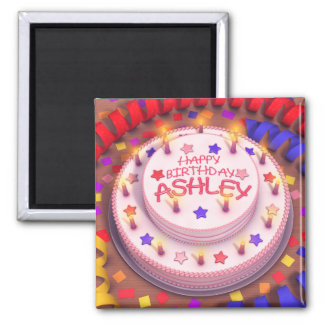 Ashleyのお誕生日ケーキ マグネット