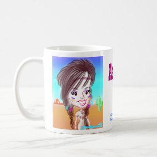 Ashleyのインドの風刺漫画のマグ コーヒーマグカップ