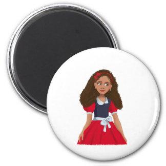 Ashleyの漫画の女の子の円形の磁石 マグネット
