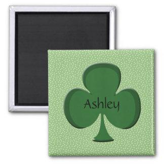 Ashleyの緑のアイルランドの一流の磁石-シャムロック マグネット