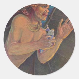 Ashmedaiおよび王Solomon ラウンドシール