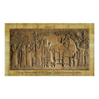 Ashurbanipal Historic Art Posterアッシリアの王 ポスター