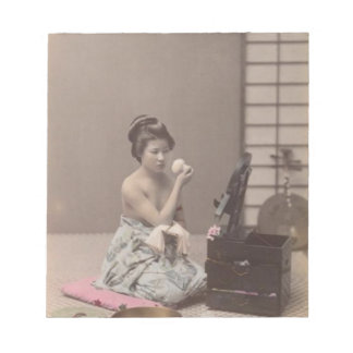 Asian Vintage Art Geisha日本のな女性 ノートパッド
