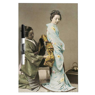 Asian Vintage Art Geisha日本のな女性 ホワイトボード