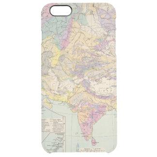 Asien uのユーロパ-アジアおよびヨーロッパの地図書の地図 クリア iPhone 6 plusケース