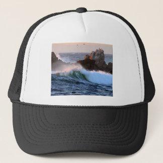 Asilomarのビーチの波 キャップ