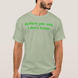 askI知らない前に Tシャツ