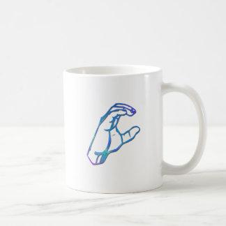 ASLのアルファベットの手紙C コーヒーマグカップ