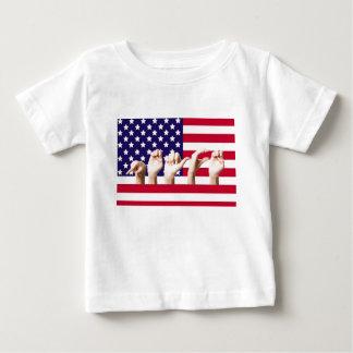 ASLの平和旗 ベビーTシャツ