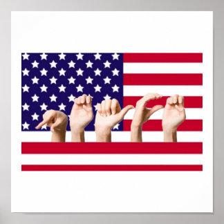 ASLの平和旗 ポスター