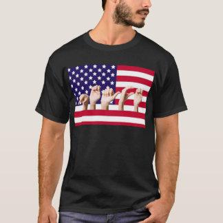 ASLの平和旗 Tシャツ