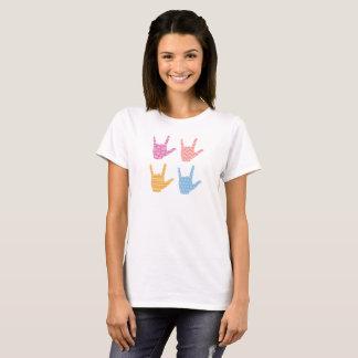 ASLの手話I愛Tシャツを模造します Tシャツ