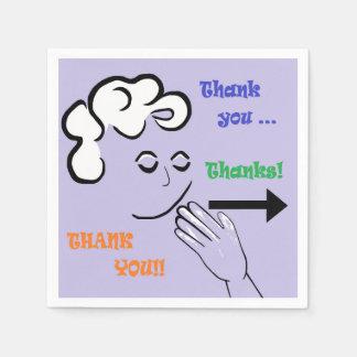 ASLは感謝していしています! スタンダードカクテルナプキン
