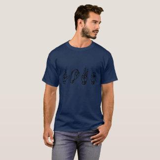 ASL (アメリカの印で綴られるL O V E ASL愛 Tシャツ