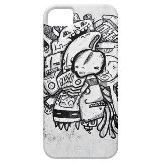 Aslan黒く及び白いマイアミの漫画 iPhone SE/5/5s ケース