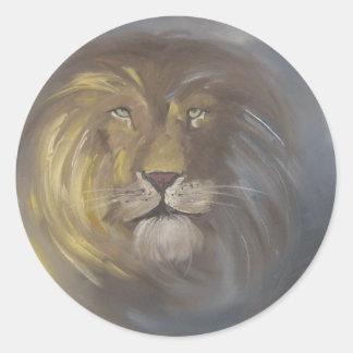 Aslan -ライオン ラウンドシール