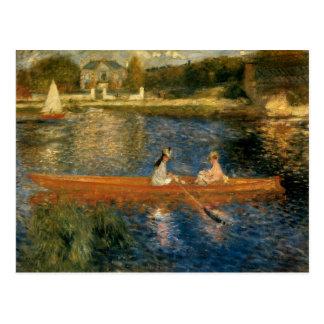 Asnières (スキフ)のルノアールのセーヌ河カリフォルニア1879年 ポストカード
