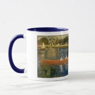 Asnières (スキフ)のルノアールのセーヌ河カリフォルニア1879年 マグカップ