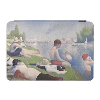 Asnières 1884年の水浴者(キャンバスの油) iPad miniカバー