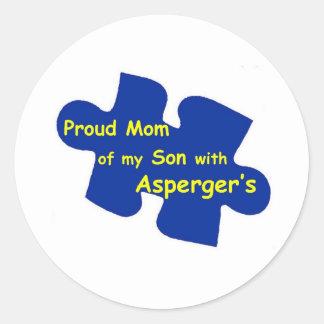 Aspergerのお母さん ラウンドシール