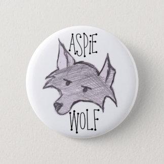 Aspieのオオカミボタン 5.7cm 丸型バッジ
