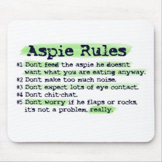 Aspieの規則 マウスパッド