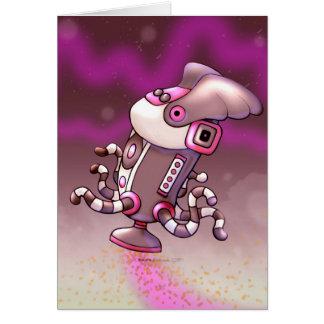 ASPIROの塵のかわいいロボットメッセージカード カード
