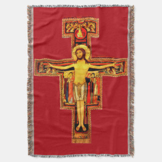 Assisiのサンダミアーノの十字架像St. Francis スローブランケット