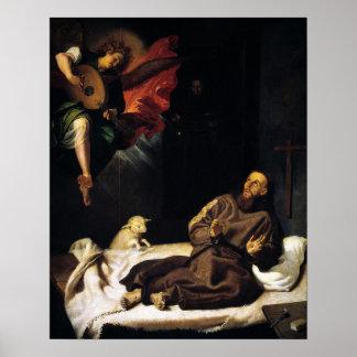 Assisiの天使の訪問のSt. Francis ポスター