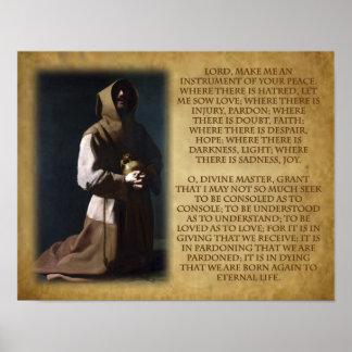 Assisiの祈りの言葉のSt. Francis ポスター