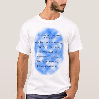 AssisiのSt Francisの祈りの言葉 Tシャツ