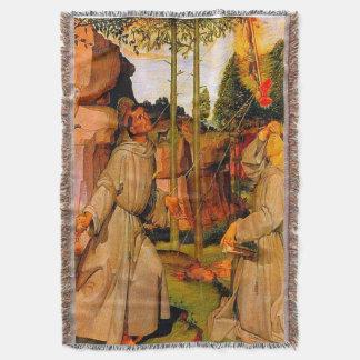 AssisiのSt. Francisはイエス・キリストから汚名を受け取ります スローブランケット