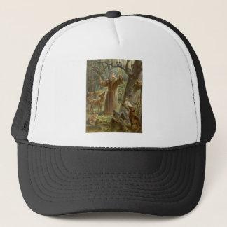 AssisiのSt Francisは動物によって囲みました キャップ