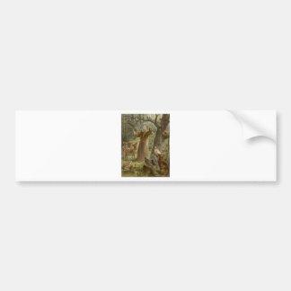 AssisiのSt Francisは動物によって囲みました バンパーステッカー