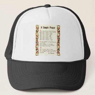 AssisiのSt Francis著シンプルな祈りの言葉 キャップ