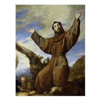 Assisi 1642年のSt Francis ポストカード
