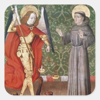 Assisi、c.1480のセントマイケルそしてSt Francis スクエアシール