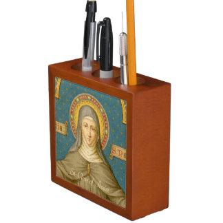 Assisi (SAU 027)の二重像St.ドクレア ペンスタンド